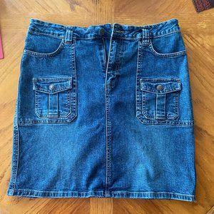 Denim Skirt  Old Navy Blue Jeans/ Stretch